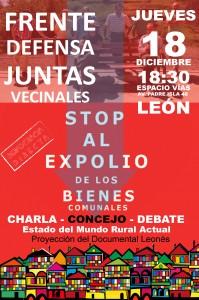Cartel 18 Dic Frente Stop Expolio SL